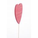 Pique Coeur Rouge L9 x h29 cm par 12
