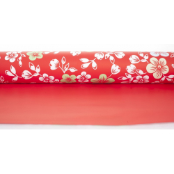 "Opaline 0.80x40m ""Cerisier"" Rouge"