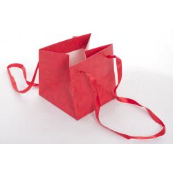 Sac Papier Volute Rouge 14 x 14 x 14 cm par 10