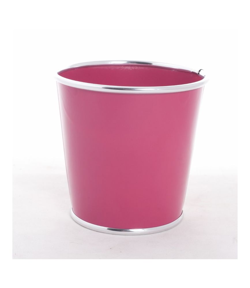 orora cache pot zinc d15 x h13 cm fuchsia. Black Bedroom Furniture Sets. Home Design Ideas
