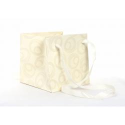 Sac Papier Volute Crème 14 x 14 x 14 cm par 10