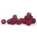 BOULE ROTIN - Sphère Rotin D4 cm Rouge par 24