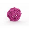BOULE ROTIN - Sphère Rotin D4 cm Cyclamen par 24