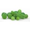 Boule de Rotin d4-6-8 cm Vert par 22