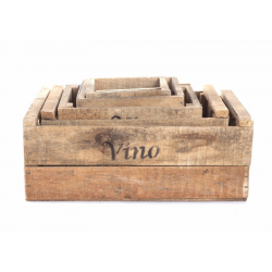 VINO - Caisse Bois avec croisillons par 6