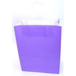 SAC KRAFT - Violet 90g a/torsadées 23x12x30 cm - 50 sacs