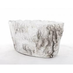 BOULEAU - Jardinière Ciment 22.5x11.5x10.5