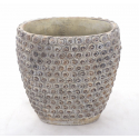 SHIVA - Vase ciment L25 x P13 x H26 Brun