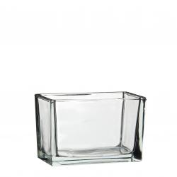 Jardinière verre rectangle 15.5x8 h10 cm