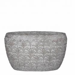 "Pot""Ariadne"" Blanc l35x20x20cm"