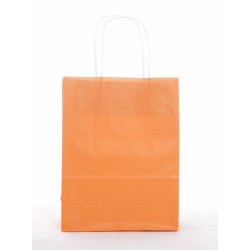 Sacs KRAFT Orange Blanc Lisse 35x16x40 par 50
