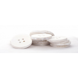 Boutons 5cm Blanc Par 15