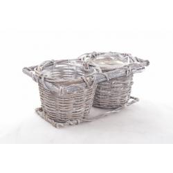 LIDY - Double Pots en Vannerie D10 cm