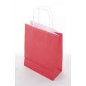Sacs KRAFT Rouge Blanc Lisse 18x8x24 par 50