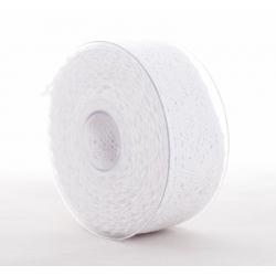 MERLETTO - Dentelle 40 mm x 8 m Blanc