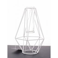 Support Fer Blanc+Vase