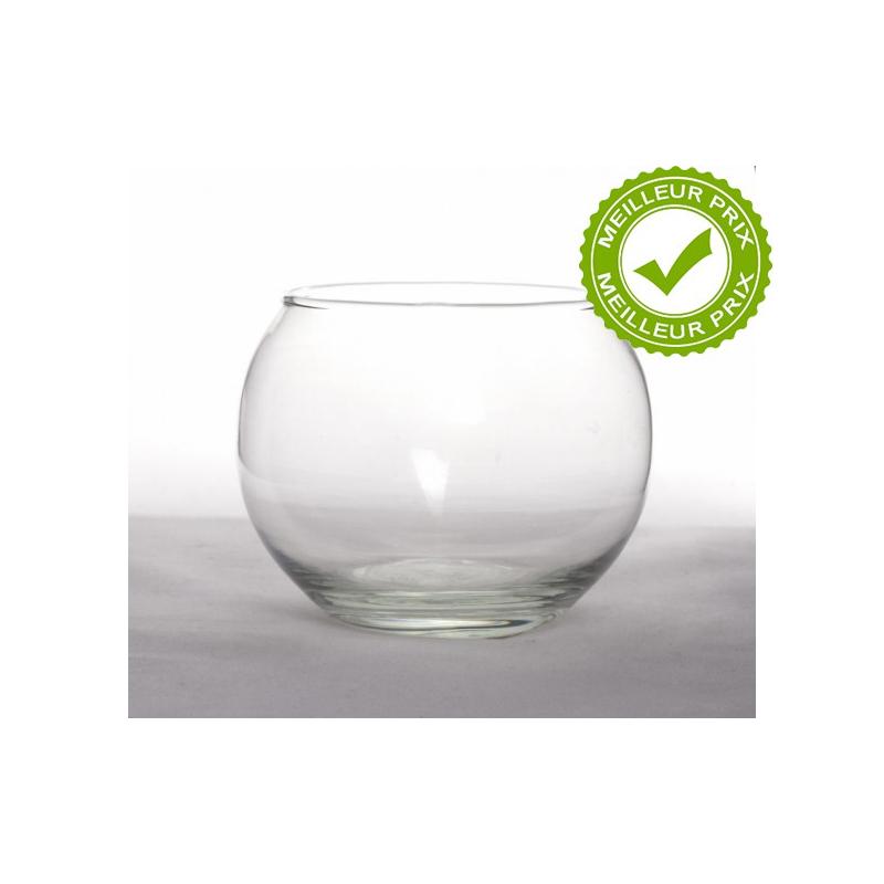 ANA - Vase Verre Boule D811x h8.5cm