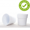 ORCH - Cache-pot Blanc avec Rebord D13.5 x H12.5 cm par 6