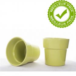 ORCH - Cache-pot Vert avec Rebord D13.5 x H12.5 cm par 6