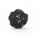 BOULE ROTIN - Sphère Rotin D4 cm Noir par 24