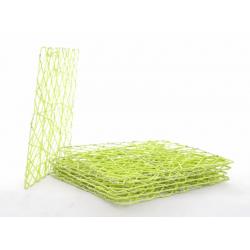 CADRE ROTIN - Carré en Rotin L20 x P20 cm Vert par 7