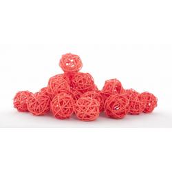 Boule de Rotin d4 cm Orange par 24
