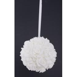 Boule Roses Blanches d.12cm