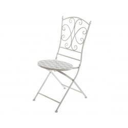 Chaise en Fer Cube Mosaique
