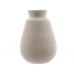 Vase Terre Cuite blanc d22 h30cm