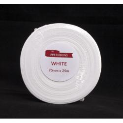 Ruban Satin 70mm x 25m Blanc