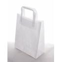 Sacs Poignée Plate Blanc 32X44 Par 50