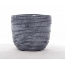 THIA - Cache-pot Anthracite D17,4 x H14,5 cm