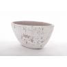 INDUE - Pot Ovale Bêton Blanc 27.5x12.5x13cm