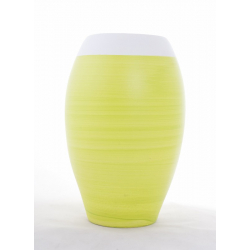 ZELIE - Vase 2 Couleurs Vert D20 x H30 cm