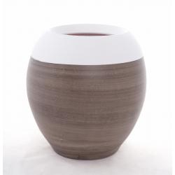 ZELIE - Pot Boule 2 Couleurs Taupe D25 x H25 cm