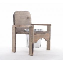 CHAIR - Chaise en Bois + Pot en zinc l16 x h21 cm