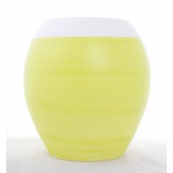 Pot Boule Blanc/Vert D25H25cm