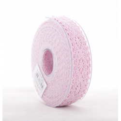 MERLETTO - Dentelle 25 mm x 8m Rose