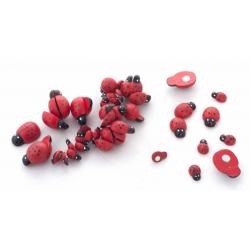 COCCINELLE - Rouge Avec Aimant Par 50
