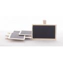 BLACKBOARD MINI - Pince Tableau Noir en bois 4,5 x 7 cm par 4 pièces