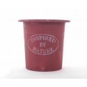 Cache-pot bois D15.5 H14 Rouge