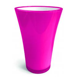 FIZZY - H20,5 x D14 cm Vase PVC Fuchsia