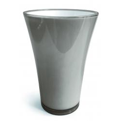 FIZZY - H20,5 x D14 cm Vase PVC Gris