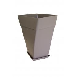 Pot Cocoripot Twist 38 cm h 60 cm Gris