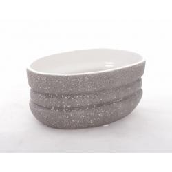 ADRIAN - Coupe Ovale Gris Clair L21 x P11 x H9,5 cm