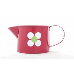 LENISA - Arrosoir Fleur D10 x H8 cm Rouge