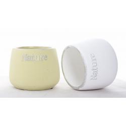 NATURE - Cache-pot Rond D9 cm Vert / Blanc