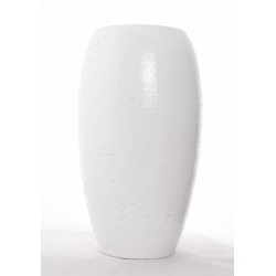 GAROA - Vase Blanc D22 x H40 cm