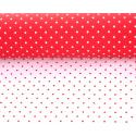 MINI POIS - Opaline 0,8 x 40 m Rouge / Blanc