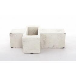 Croix - Ciment L22 x P17 x H6 cm Gris Clair